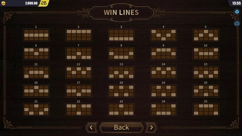 west Wild :: Paylines 1-25