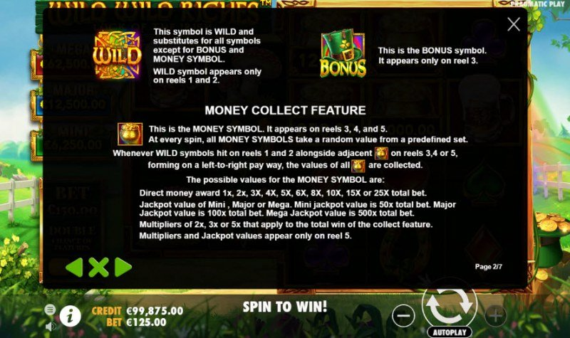 Wild Wild Riches Luck of the Irish :: Wild and Scatter Rules