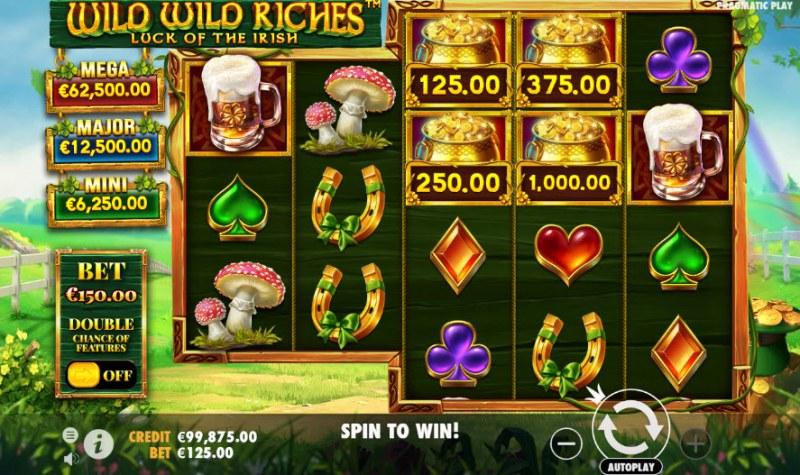 Wild Wild Riches Luck of the Irish :: Main Game Board