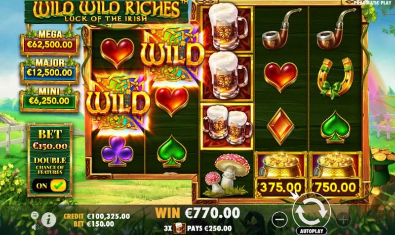 Wild Wild Riches Luck of the Irish :: Multiple winning paylines
