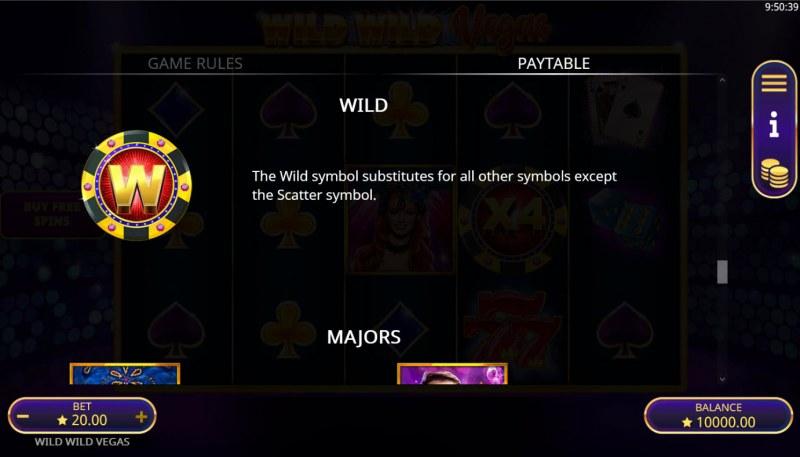 Wild Wild Vegas :: Wild Symbol Rules