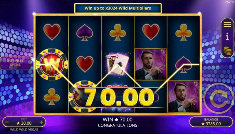 Wild Wild Vegas :: A three of a kind win