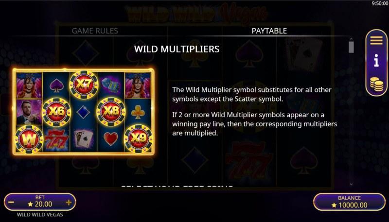 Wild Wild Vegas :: Wild Multipliers
