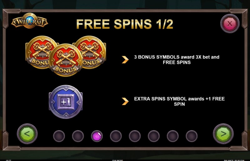 Wildcraft :: Free Spins Rules