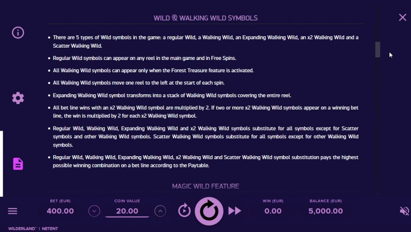 Wilderland :: Feature Rules