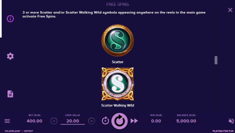 Play slots at 4 Stars: 4 Stars featuring the Video Slots Wilderland with a maximum payout of $48,000