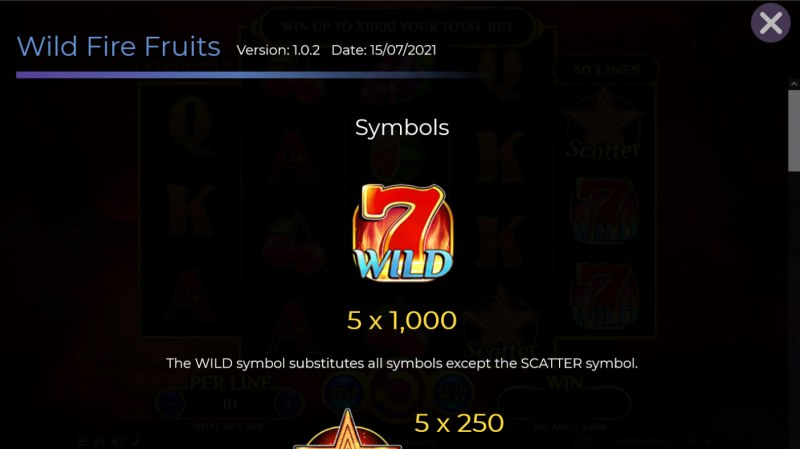 Wildfire Fruits :: Wild Symbol Rules