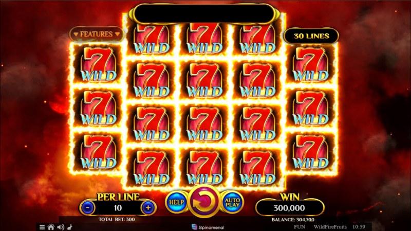 Wildfire Fruits :: Full Screen Win