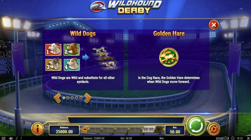 Play slots at Africa Casino: Africa Casino featuring the Video Slots Wildhound Derby with a maximum payout of $1,500,000