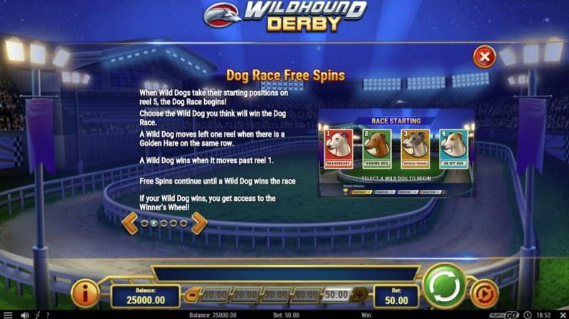 Wildhound Derby :: Free Spins Rules