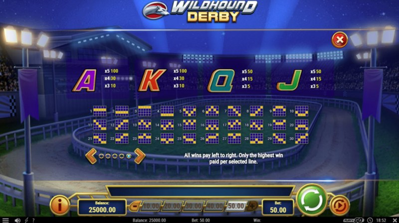 Play slots at TS: TS featuring the Video Slots Wildhound Derby with a maximum payout of $1,500,000