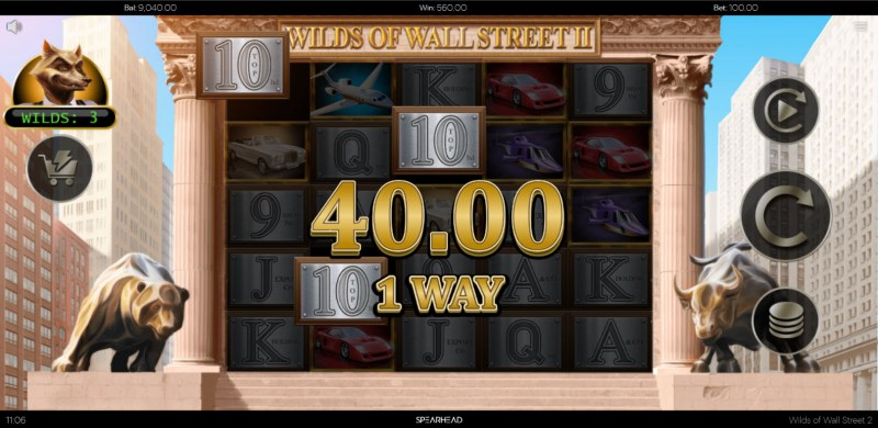 Wilds of Wall Street II :: A three of a kind win