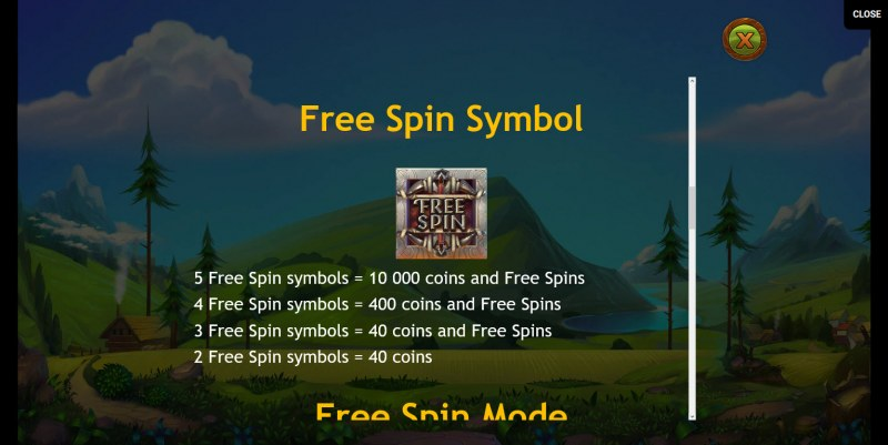 Wilhelm Tell :: Free Spins Rules