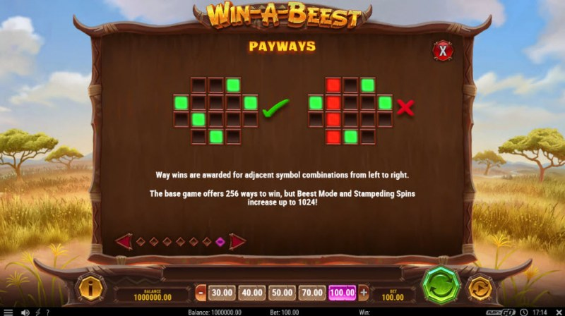 Win-A-Beest :: 256 Ways to Win