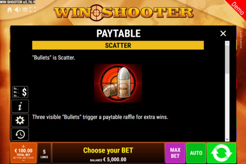 Win Shooter :: Scatter Symbol Rules