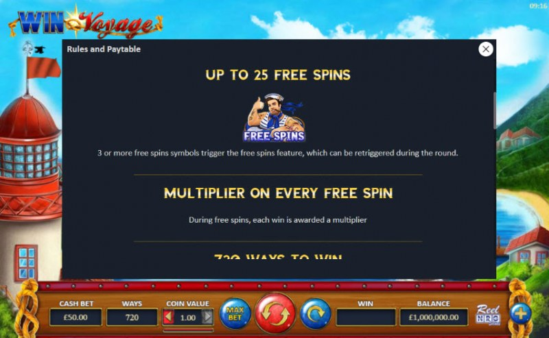 Win Voyage :: Free Spins Rules