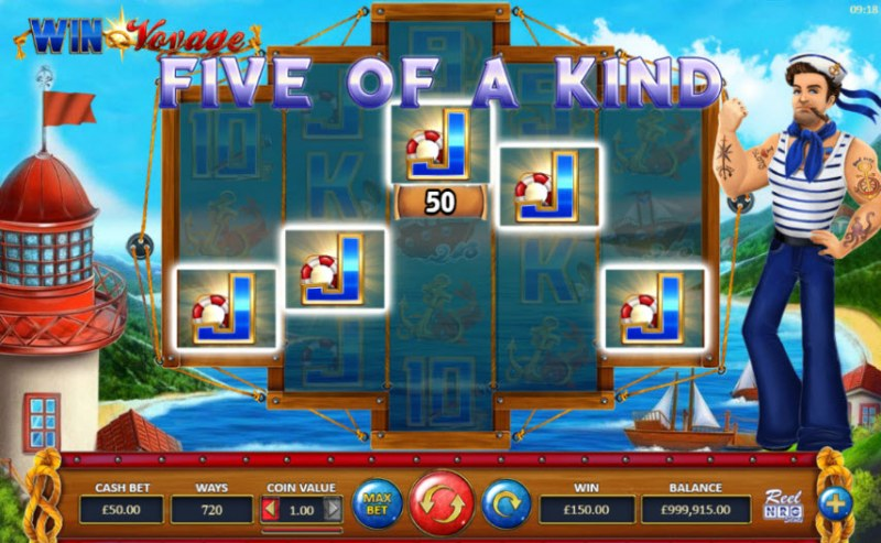 Win Voyage :: A five of a kind win