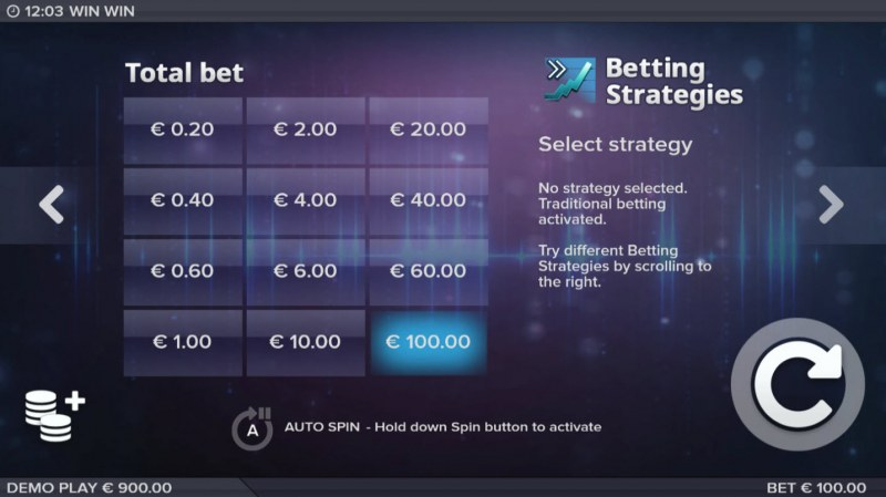 Win Win :: Available Betting Options