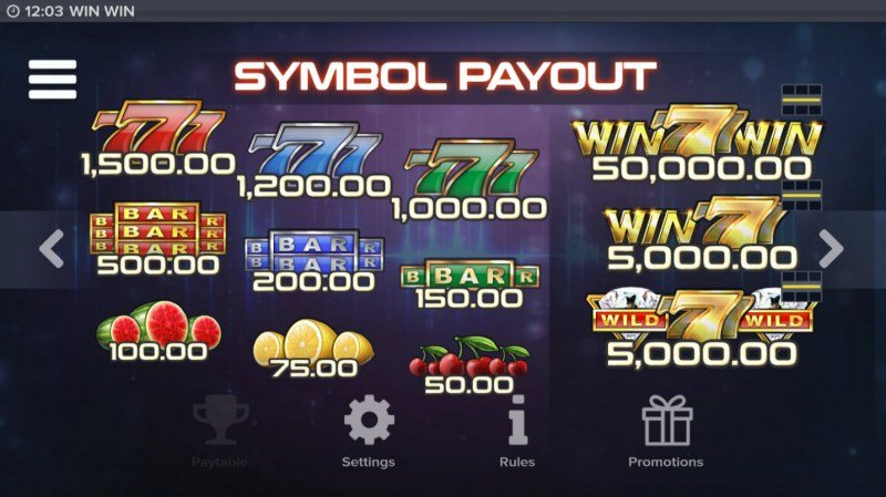Win Win :: Paytable