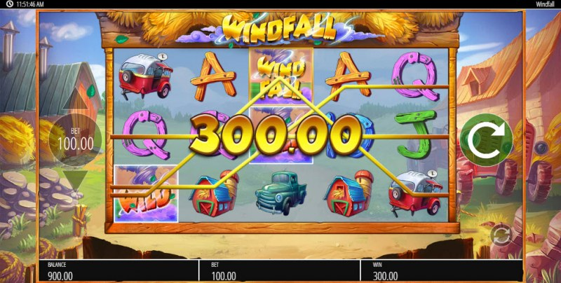 Windfall :: Multiple winning combinations leads to a big win