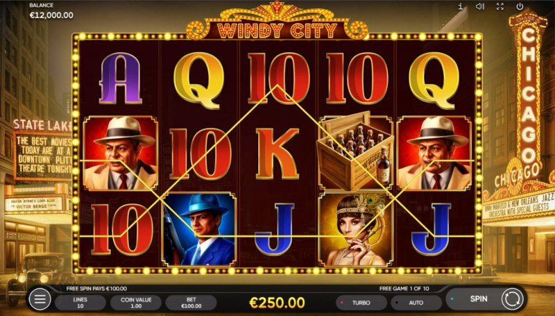 Windy City :: Free Spins Game Board