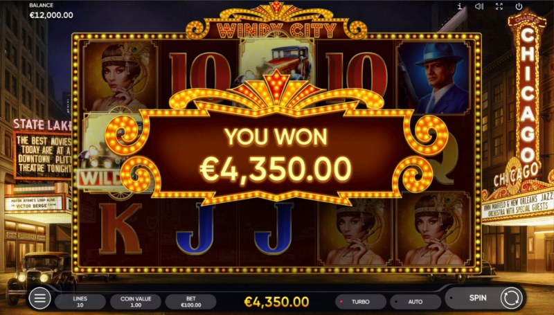 Windy City :: Total Free Spins Payout
