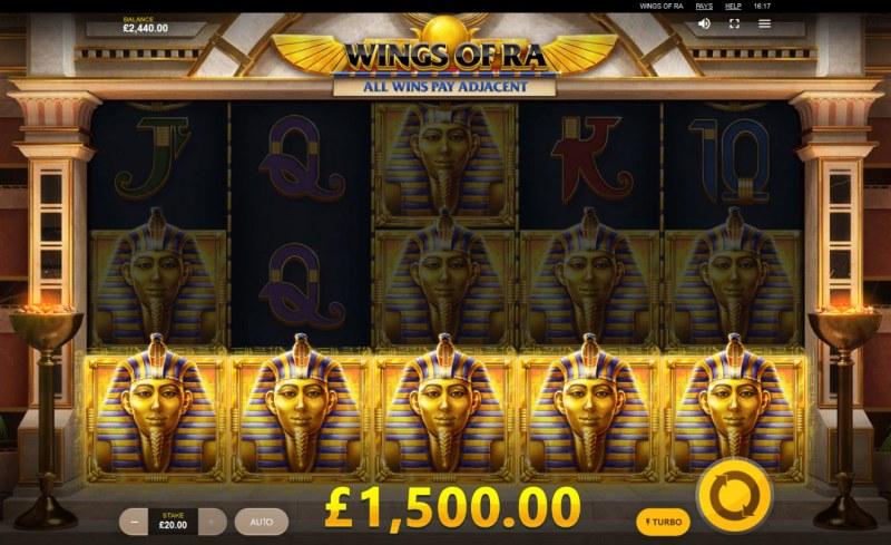Wings of Ra :: Multiple winning paylines