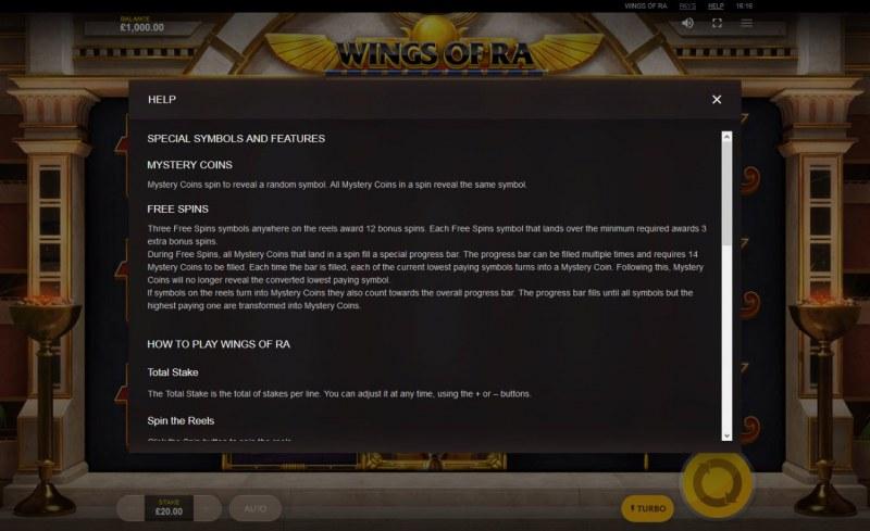 Wings of Ra :: General Game Rules