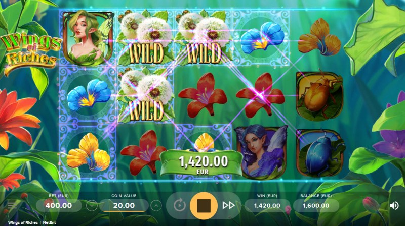 Wings of Riches :: Multiple winning paylines