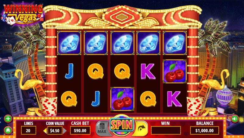 Winning Vegas :: Base Game Screen