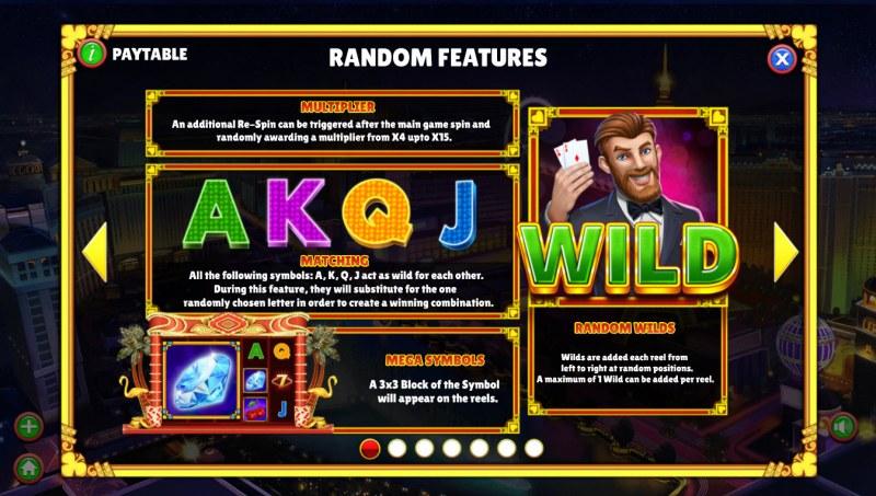Winning Vegas :: Random Features