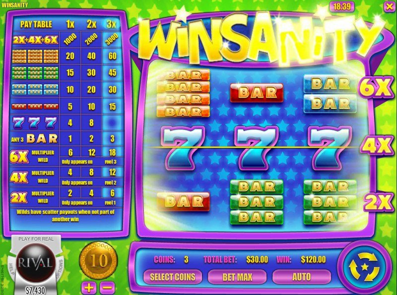 Winsanity :: Three of a kind