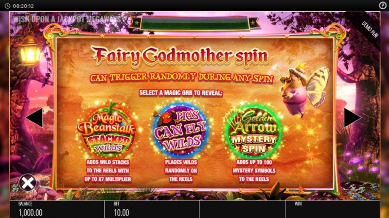 Wish Upon a Jackpot King :: Fairy Godmother Spin