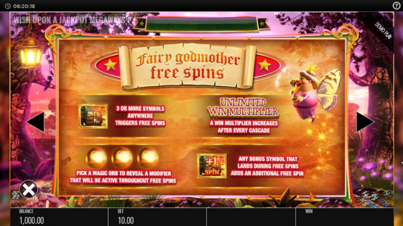 Wish Upon a Jackpot King :: Free Spins Rules