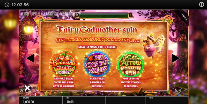 Wish Upon A Jackpot Megaways :: Fairy Godmother Spin - Reel Modifiers