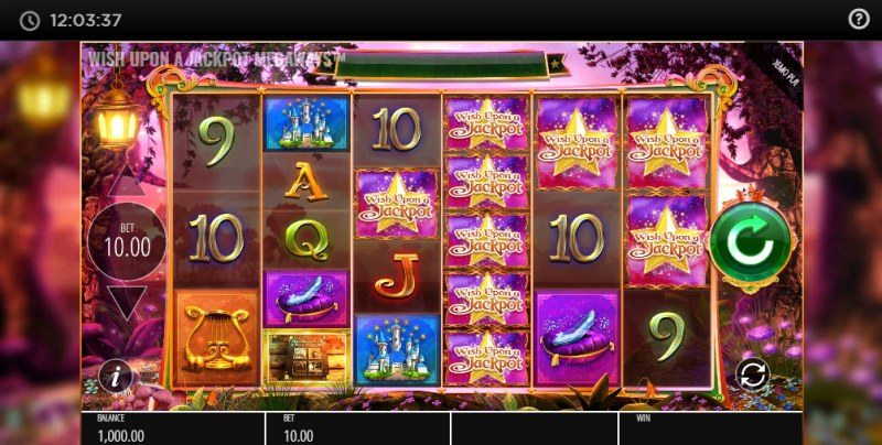 Wish Upon A Jackpot Megaways :: Main Game Board