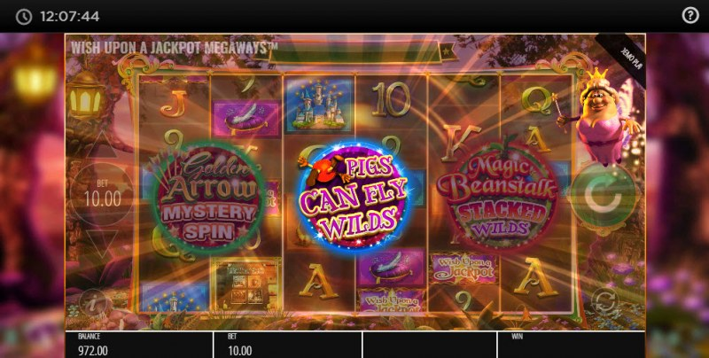 Wish Upon A Jackpot Megaways :: Pigs Can Fly feature awarded