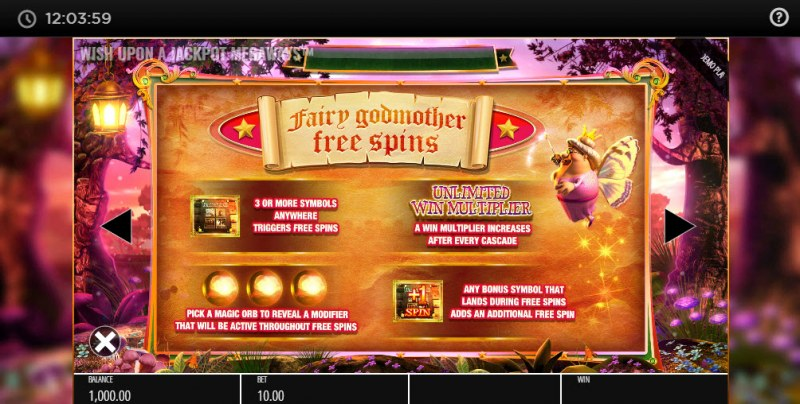 Wish Upon A Jackpot Megaways :: Free Spins Rules