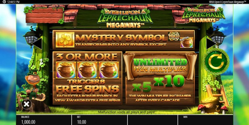 Wish Upon a Leprechaun Megaways :: Free Spins Rules