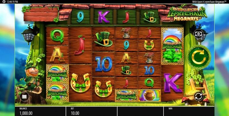 Wish Upon a Leprechaun Megaways :: Main Game Board