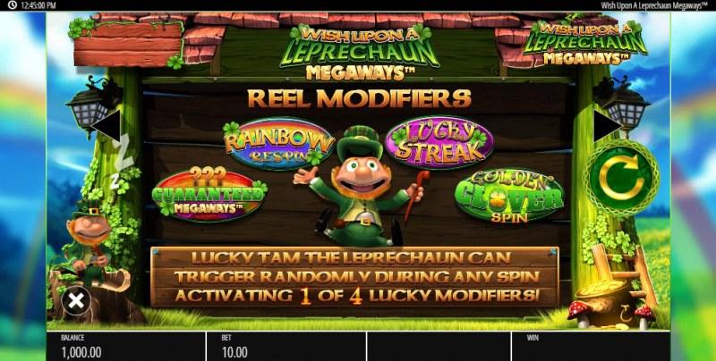 Wish Upon a Leprechaun Megaways :: Reel Modifiers
