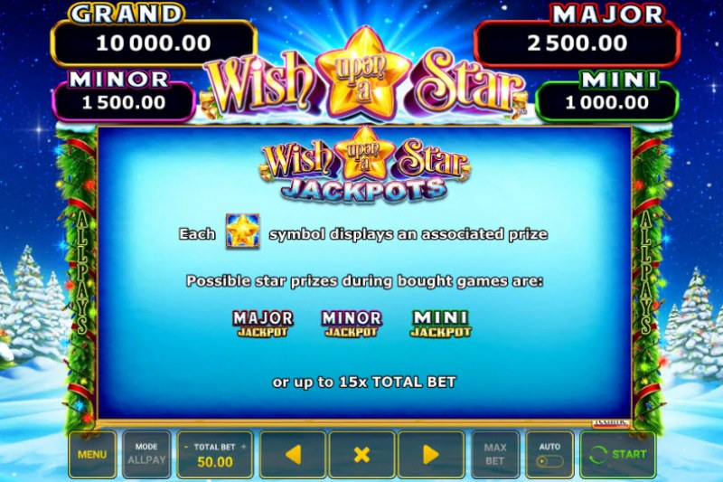Wish Upon A Star :: Jackpot Rules