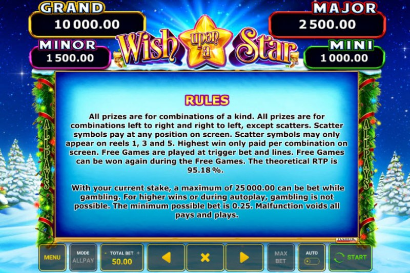 Wish Upon A Star :: General Game Rules