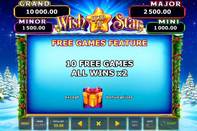 Wish Upon A Star :: Free Spins Rules