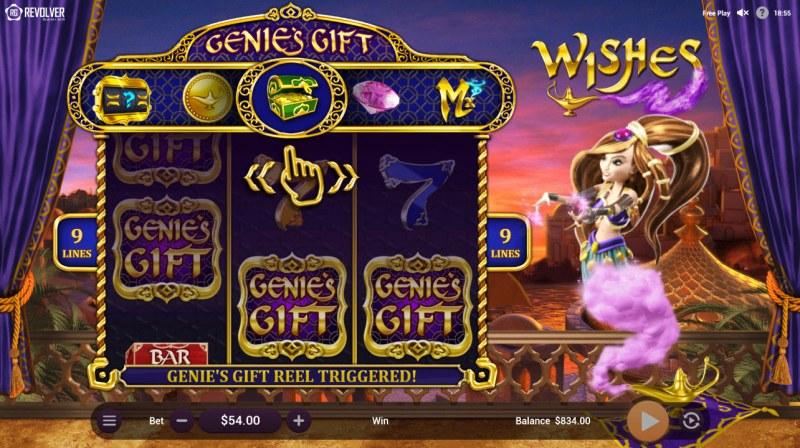 Wishes :: Scatter symbols triggers bonus feature