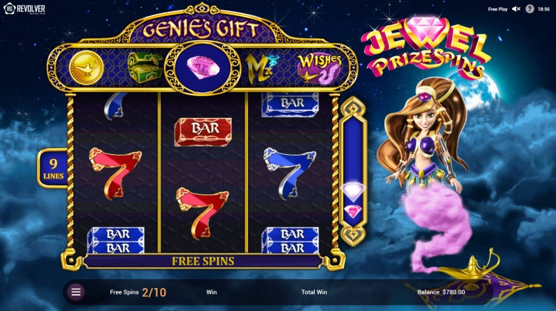 Wishes :: Free Spins Game Board