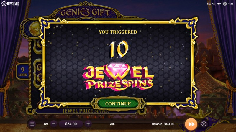 Wishes :: 10 Free Spins Awarded