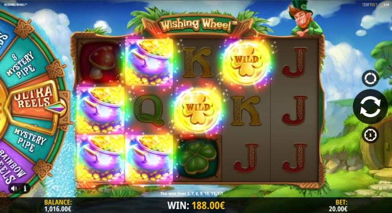 Wishing Wheel :: Multiple winning combinations