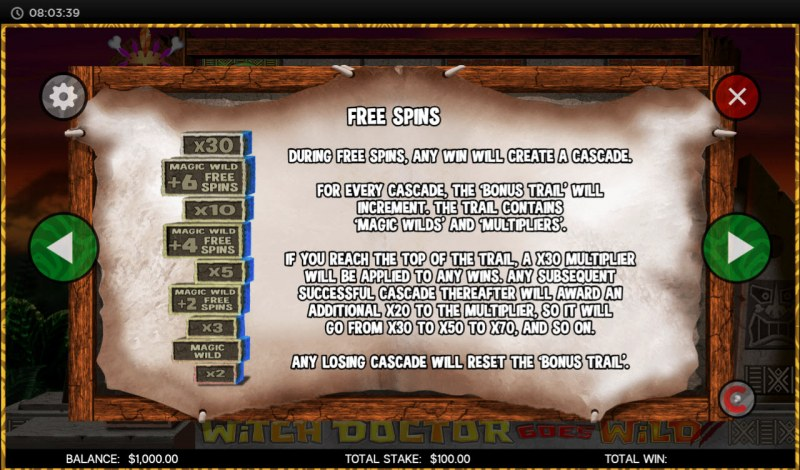 Witch Doctor Goes Wild :: Free Spins Rules