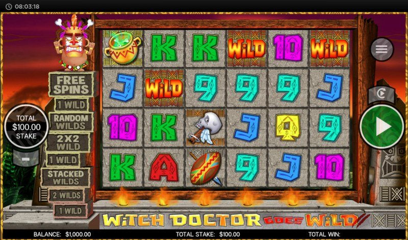 Witch Doctor Goes Wild :: Main Game Board